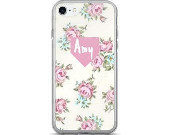 Personalized Floral iPhone Case, iPhone Cover Custom Phone Case