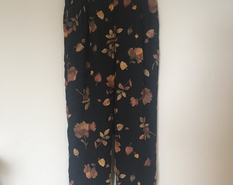 AMAZING floral high waist pants fully lined