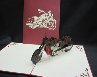 3-D Motorcycle Pop-Up Card