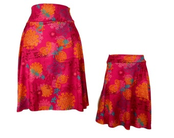 Mother Daughter Matching Skater Skirts, mommy and me matching abstract print skirt mothers day matching outfits
