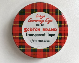 Scotch Brand Tin - Transparent Tape - No. 175, American Vintage 1940's