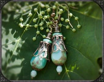 Vintage Earrings Lake nymph