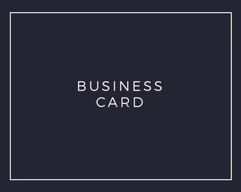 Premade Logo Add On: Business Card