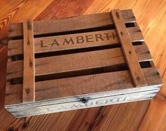 Vintage 1960's Lamberth Italian Wine Crate