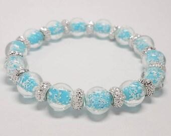 Woman's beaded bracelet-glow in the dark beaded bracelet-crystal beaded bracelet-girls beaded bracelet-elastic stretch bracelet