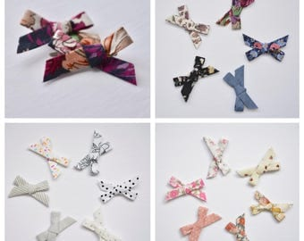 Set of 2 printed Everly bows | pigtail sets