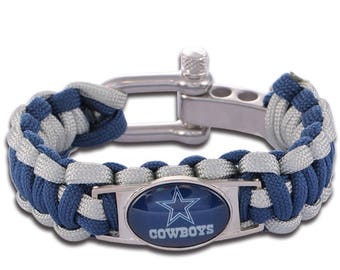 Dallas Cowboys Paracord Survival Bracelet with Adjustable Shackle
