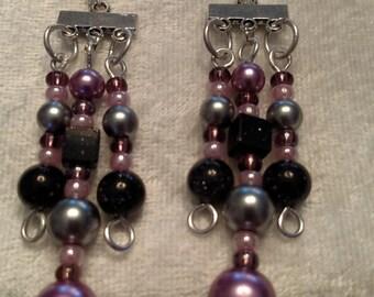 Pretty Purple jewelry set w/ purple Goldstone