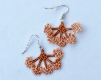 Oya earrings, Ohrringen, oorbellen Turkish lace crochet