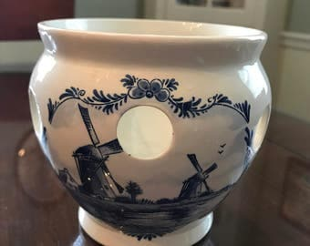 Vintage Delft Blue Planter made in Holland