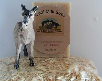 Lilac Oatmeal Goat Milk Soap