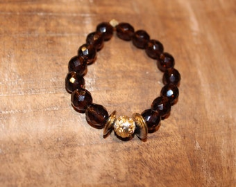 Bronze and Gold Accent Bracelet
