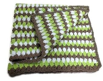 Knit Lap Blanket - Knit Throw - Crochet Throw - Crochet Lap Blanket - Chunky Knit Throw - Lapghan - Toddler Blanket - Wheelchair Blanket