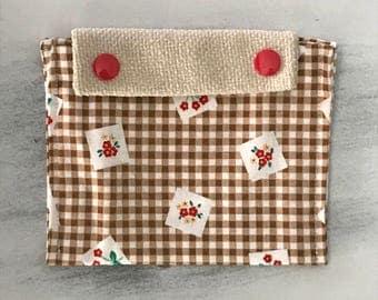 Mini Snap Pouch - Vintage Floral