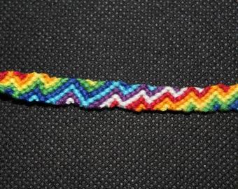 Zig Zag Rainbow Stripe