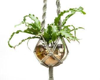 Large Macrame Plant Hanger / Plant Pot Holder / Modern Macrame / Urban Jungle / Indoor Planter / Decoration / Wall art / Olive Army