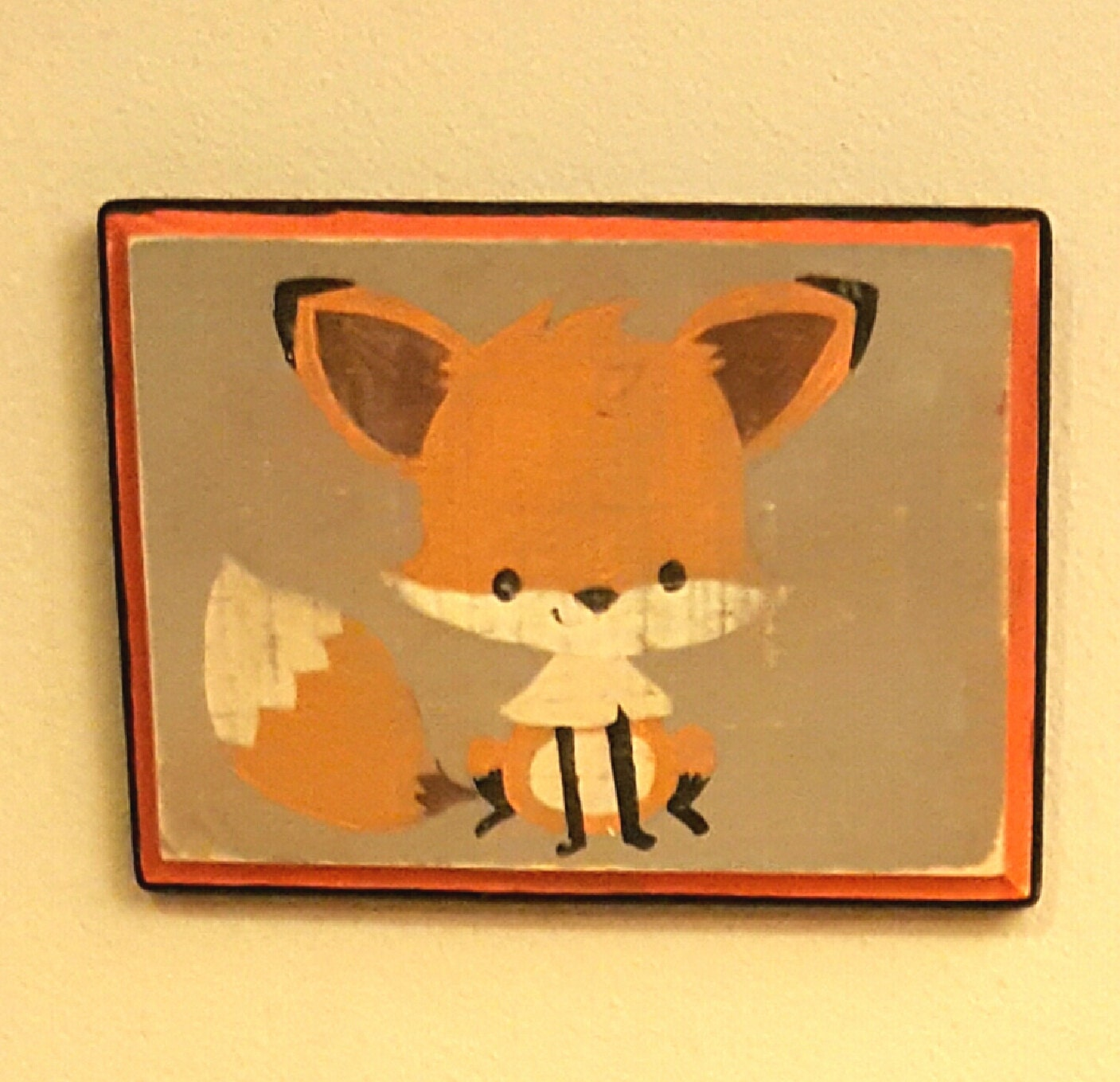 Fox wall art fox decor vintage inspired wall decor by - Vintage inspired wall art ...