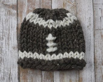 Chunky Knit Football Wool Hat - Photography Prop Newborn Photos Accessories