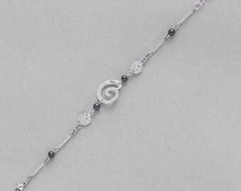 Bracelet Hématite and Silver
