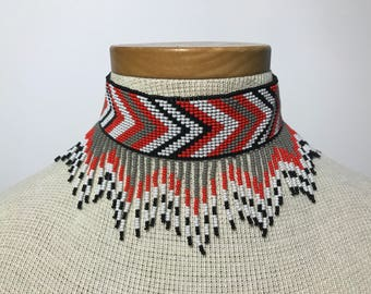 Embera handmade beaded choker