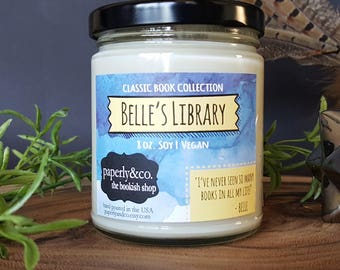 LARGE Belle's Library 8 oz. Soy Candle
