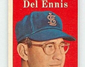 Vintage 1958 Topps #60 DEL ENNIS