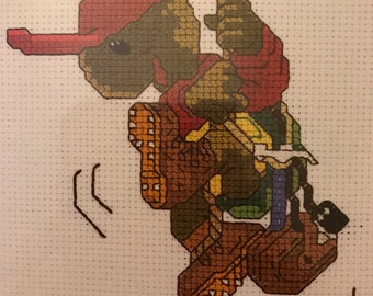 Janlynn Suzy's Zoo counted cross stitch Hang in There counted cross stitch kit