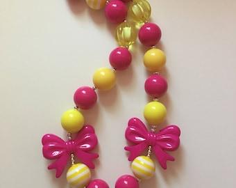 Pink lemonade bubblegum necklace