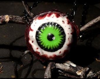 Eye necklace - acid Green