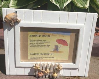 Beach frame, Wood frame, Beach decor, Beach wood frame, Nautical frame
