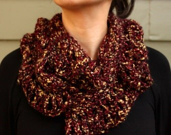 Crochet Fall Speckled Infinity Scarf