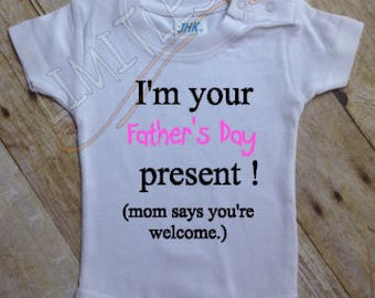 First Father Day Onesie, First Fathers Day Gift, Fathers Day, Fathers Day Gift, Fathers Day Outfit, Baby onesie, Custom Onesie, Fathers Day