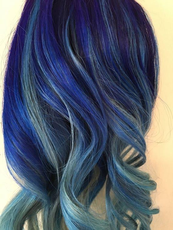 Balayage blue clip hair extensions bluesclip in hair balayage blue clip hair extensions bluesclip in hair extensions blue hair extensions pastel blue hair custom made pmusecretfo Gallery