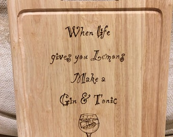 Gin and Tonic Chopping Board