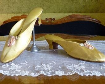 1917 Boudoir Slipper, patent Oct. 23, 1917, Edwardian Shoes, antique shoes, antike Schuhe