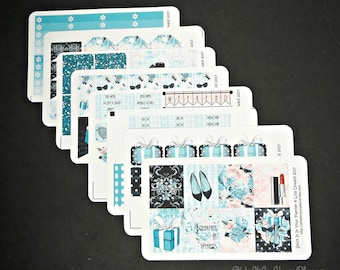 Breakfast at Tiffany's, Week at a Glance Stickers. Planner Stickers, Erin Condren, Happy Planner