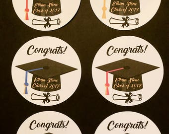 Precut Edible Graduation Cap images to decorate your cupcakes, cookies or cake with.