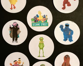 Precut Sesame Street  Character images to decorate your cupcakes, cookies or cake with.