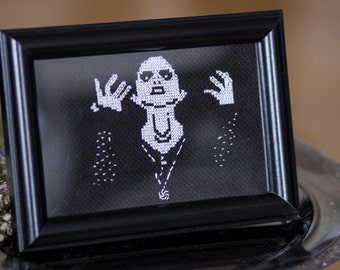 darkthrone Crossstitch Embroidery holy Mayhem blackmetal norway corpse paint frame