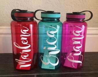 Personalized water bottle with hourly time tracker, accountability water bottle ! (2 side design) Without tracker as well.