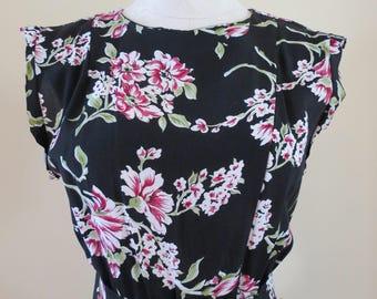 Vintage 1930's Inspired Floral Dress
