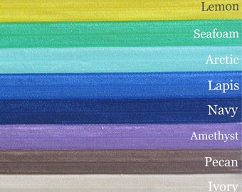 Stretch Cotton Headband- 7 Sizes- 16 Colors