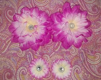Silk Flower Hair Clips
