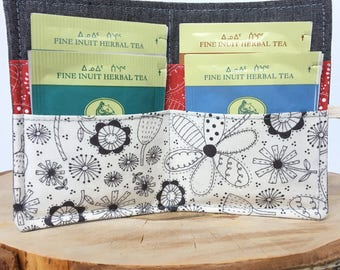 Tea Wallet, Tea Tote, Tea Pouch, Zakka Tea Pouch