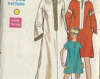 1968 Vintage Vogue Sewing Pattern B38 DRESS Caftan  Cover-Up (1360)