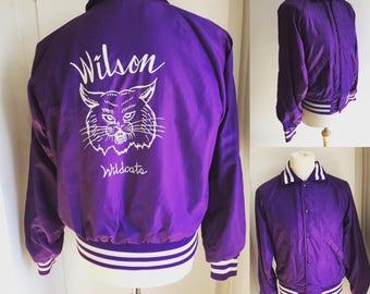 "Vintage Wilson Wildcats Baseball Jacket - 42"" Chest"