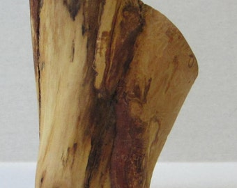 Rustic Wooden Double Vase Hand-carved from Maple