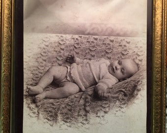Victorian cabinet card framed
