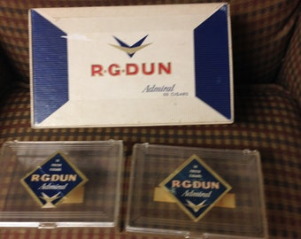 Group of RG Dun cigar boxes