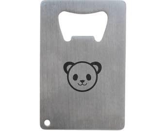 Panda Face Bottle Opener, Stainless Steel Credit Card Size, Bottle Opener For Your Wallet, Credit Card Size Bottle Opener